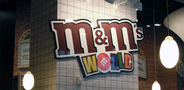 Les magasins M&M's World (Londres & New York)