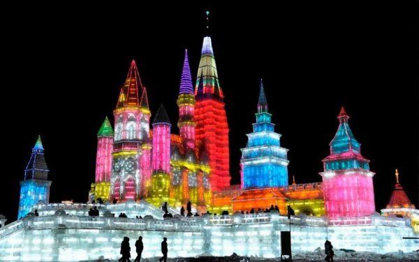1 - Festival de sculptures sur glace et de neige de Harbin en Chine