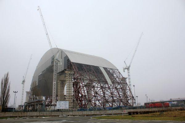 Nouvelle arche du réacteur 4 en construction