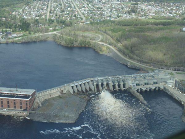 Vue du barrage depuis le ciel