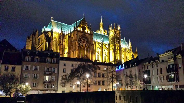 La cathédrale Saint Etienne de Metz aussi appelée Lanterne du Bon Dieu